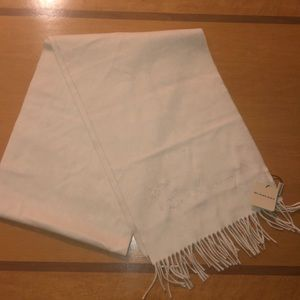 Burberry Cashmere Warm Winter Cream Scarf